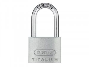 ABUS Mechanical, 64TI 40mm Long Shackle Titalium Padlocks