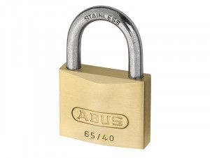 ABUS Mechanical, 65IB/50 Brass Padlocks Stainless Steel Shackle