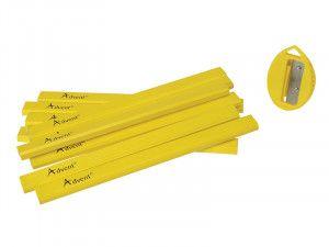 Advent Carpenter's Pencils (Tub of 10 + Sharpener)