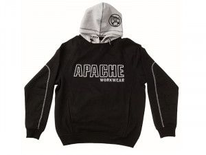 Apache, Black / Grey Hooded Sweatshirts