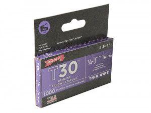 Arrow T30 Staples 6mm (1/4in) Box 1000