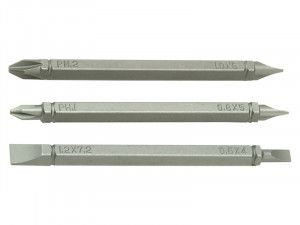 Black & Decker X61383 Double Ended Phillips / Slotted Screwdriver Bits Pack of 3