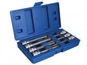 BlueSpot Tools Extra Long 3/8in Square Drive Spline Bit Sockets 7 Piece