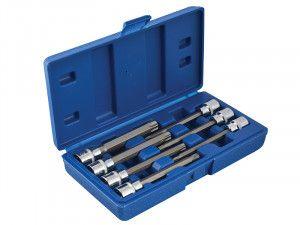 BlueSpot Tools Extra Long 3/8in Square Drive Torx Bit Sockets 7 Piece