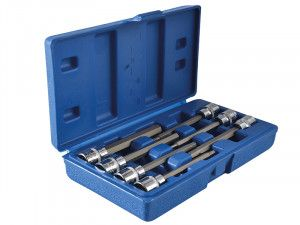 BlueSpot Tools Extra Long 3/8in Square Drive Hex Bit Sockets 7Piece
