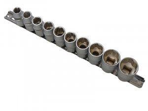 BlueSpot Tools Sockets On Rail Set of 10 Metric 1/2in Drive