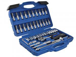 BlueSpot Tools 1/4in Square Drive Socket & Bit Set 46 Piece
