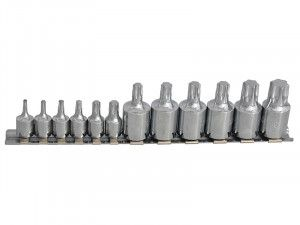 BlueSpot Tools Torx Socket Set of 12 1/4 & 3/8in Square Drive