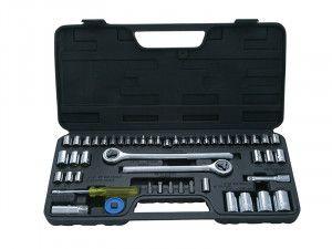 BlueSpot Tools Socket Set of 52 Metric & AF 1/4, 3/8 & 1/2in Drive