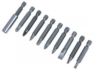 BlueSpot Tools Power Bit Set Assorted, 10 Piece