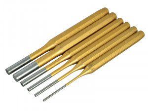 BlueSpot Tools Gold Pin Punch Set of 6