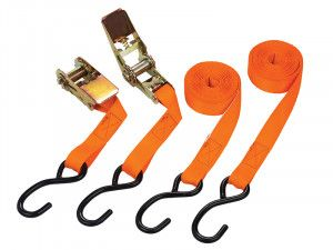BlueSpot Tools Ratchet Tie-Down Set 25mm x 4.5m