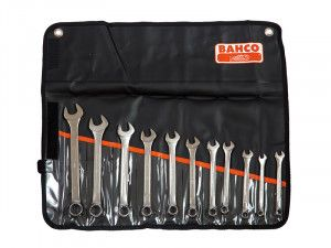 Bahco Chrome Polished Combination Spanner Set of 11 Metric 8 to 22mm
