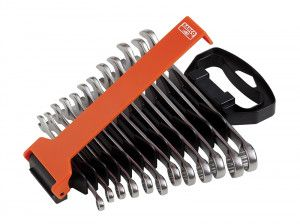 Bahco Chrome Polished Combination Spanner Set of 12 Metric 8-19mm