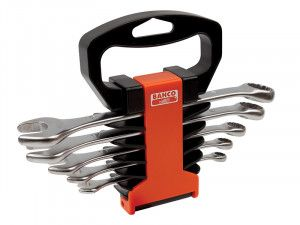 Bahco Chrome Polished Combination Spanner Set of 5 Metric 8-19mm