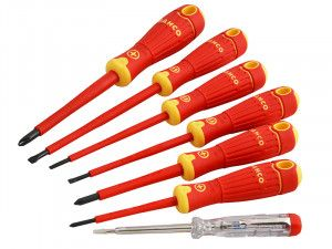 Bahco BAHCOFIT Insulated Screwdriver Set of 7 SL/PH