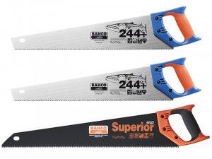 Bahco Saw Triple Pack 2 x 244P-22 Barracuda Saws + 1 x 2700-22 Hardpoint Saw