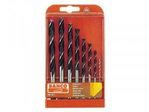 Bahco Lip & Spur Wood Drill Bit Set, 8 Piece 3-10mm