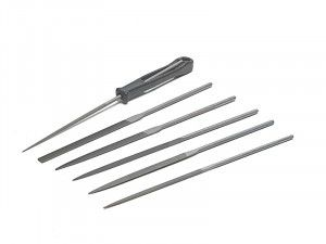 Bahco Needle File Set of 6 Cut 2 Smooth 2-470-16-2-0 160mm (6.2in)