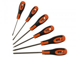 Bahco 600 Series Screwdriver Set of 6 SL/PH/PZ