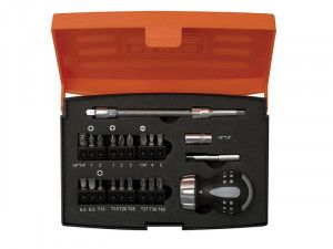 Bahco 808050S-22 Stubby Ratchet Screwdriver Set, 22 Piece