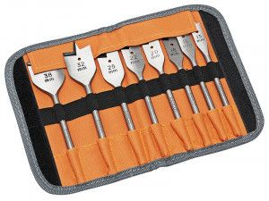 Bahco 9529 S8 Flat Bit Set of 8 In Roll Case