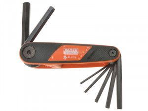 Bahco Hexagon Key Folding Set of 7 2.5mm-10mm