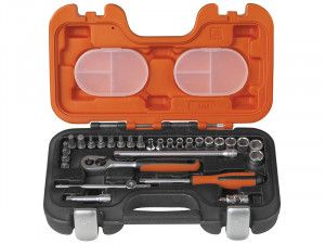 Bahco S290 Socket Set of 29 Metric 1/4in Drive
