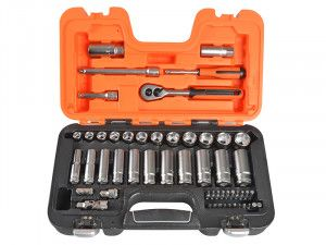 Bahco S330L Socket Set of 53 Metric 1/4in & 3/8in Deep Drive