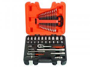 Bahco S410 Socket & Spanner Set of 41 Metric 1/4in & 1/2in Drive