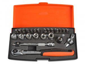 Bahco SL24 Socket Set of 24 Metric 1/4in Drive