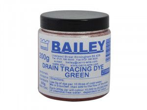 Bailey, Drain Tracing Dyes