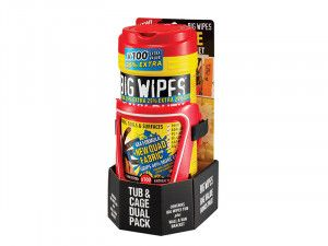 Big Wipes Red Top Heavy-Duty Wipes Tub of 80+25% Inc Bracket