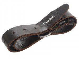 BiMetal Black (Titanium) Leather Belt 50mm (2in)