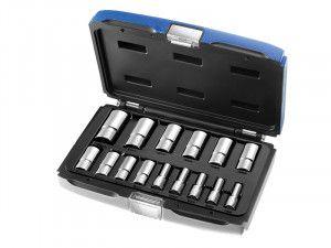 Expert Deep Socket Set of 15 Metric 3/8in Drive
