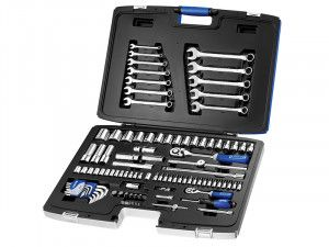 Expert Socket & Spanner Set of 101 Metric 1/4 & 1/2in Drive
