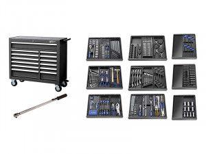 Expert E220334B Roller Cabinet Toolkit 390 Piece Black