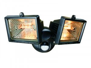 Byron, Twin Halogen Floodlights with PIR