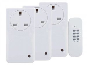 Byron Smarthome Remote Control Socket Kit 3 Piece