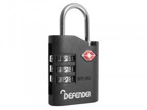 DEFENDER TSA Combination Padlock 30mm