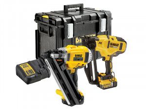 DEWALT DCK264P2 XR Nailer Twin Pack 18V 2 x 5.0Ah Li-Ion