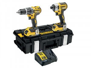 DEWALT DCK266D2B XR Brushless BluetoothTwin Pack 18V 2 x 2.0Ah Bluetooth Li-Ion