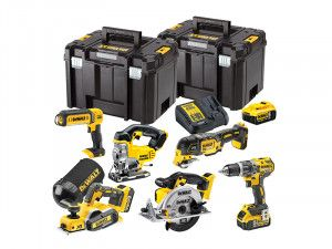 DEWALT DCK665P3T XR Compact 6 Piece Wood Working Kit 18V 3 x 5.0Ah Li-Ion