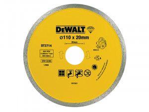 DEWALT Diamond Tile Blade 110 x 20mm