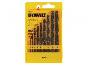 DEWALT DT5911QZ HSS Jobber Drill Bit Set 10 Piece