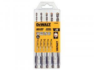 DEWALT DT60099 Extreme Impact Masonry Drill Bit Set 5 Piece