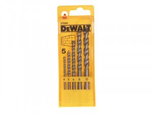 DEWALT Masonry Drill Set 5 Piece 4-10mm