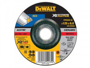 DEWALT, FlexVolt XR Runtime Metal Grinding Disc 125mm
