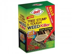 DOFF Tree Stump & Tough Weed Killer 2 Sachet