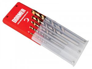 Dormer A08910 Set A002 HSS TiN Coated Jobber Drill Set of 5 4.0-10.0